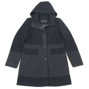 NEW GUESS Womens Hooded Wool Overcoat Jacket